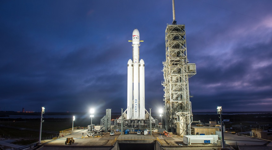 SpaceX Falcon Heavy Rocket launched off from Florida in debut test flight